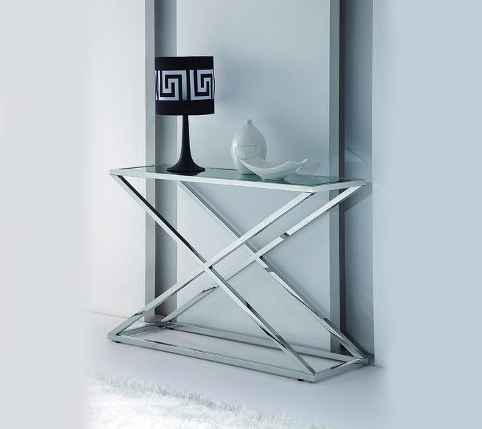 Incredible Stainless Steel and Glass Console Tables 700 x 623 · 52 kB · jpeg