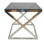 Stainless Steel Side Table with Grey Tint Glass