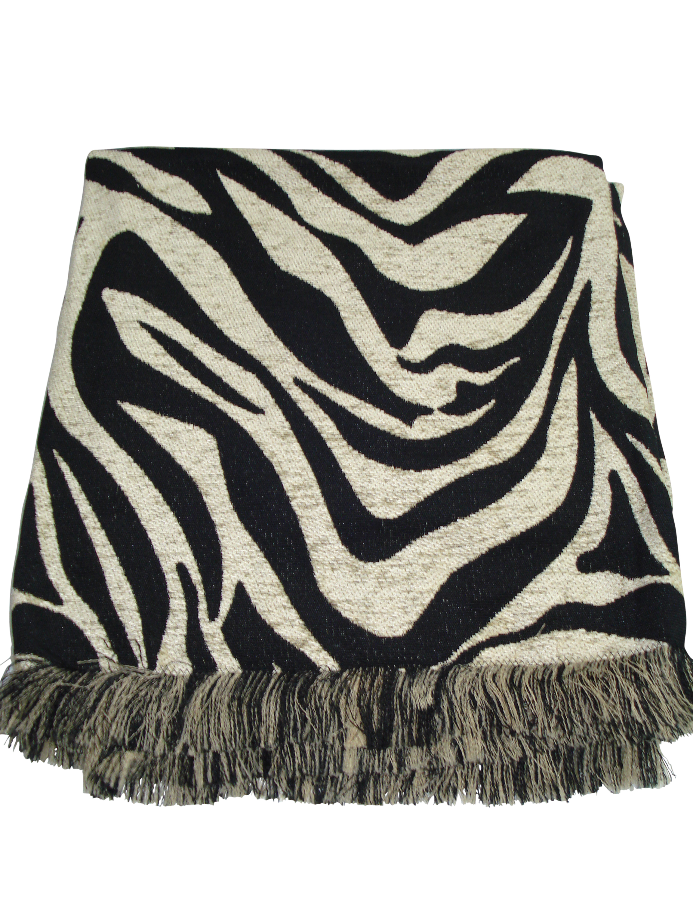 Zebra Ebony Throw