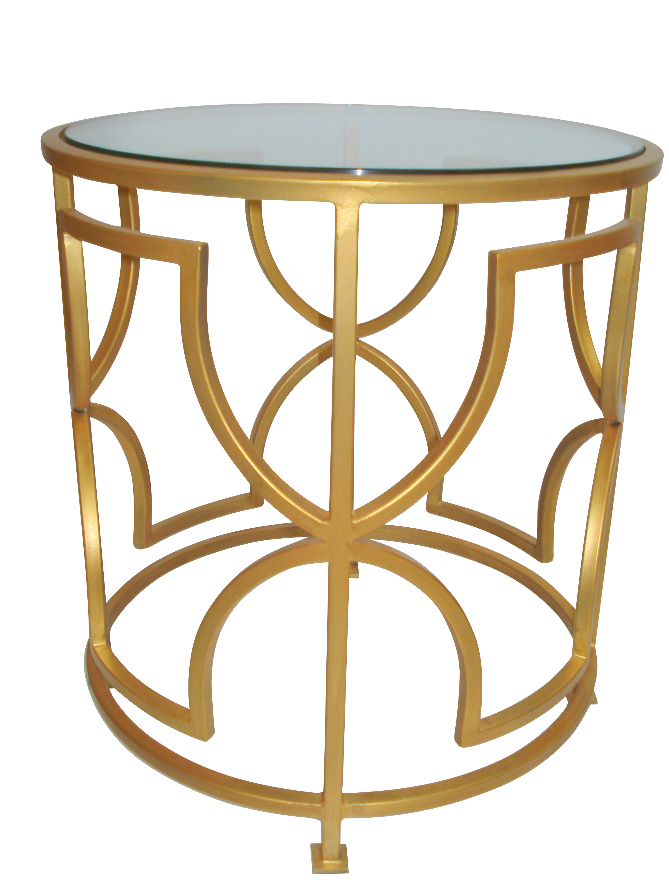 Killarney tempered glass side table