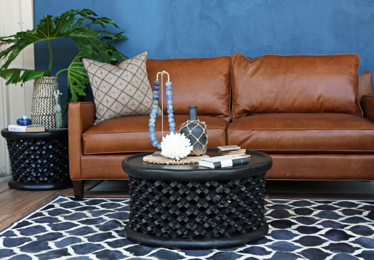 Contemporary Roomscape with African Pieces