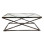 Stainless Steel Coffee Table – Clear Glass