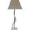 Square Kudu Horn Lamp White