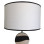 White Drum Shade White – Black Trim