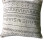 White Mudcloth Cushion (B)