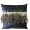 Black Suede Cushion with Goose Feather